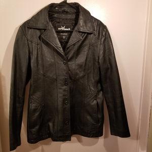 100% MAXIMA WILSON LEATHER Jacket Womens Medium